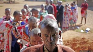 Masai wait to cast ballot papers