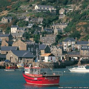 The town of Barmouth viewed from the water
