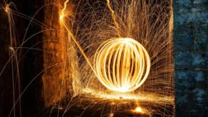Steel wool photograph