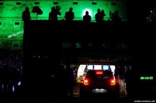 Drivers prepare for the ceremonial start of the FIA World Rally Championship in Guanajuato