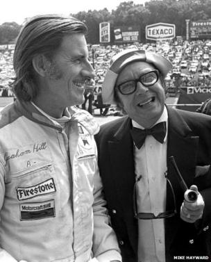 Eric Morecambe and Graham Hill