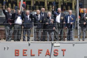 HMS Belfast veterans on board HMS Belfast