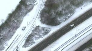 Aerial shots of abandoned cars in Sussex
