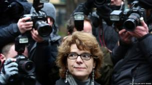 Vicky Pryce, ex-wife of Chris Huhne, arrives at Southwark Crown Court