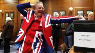 Voting in the Falkland Islands referendum
