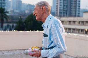 Mr Spencer's 90th Birthday, Bombay, Archival pigment print, 2008 by Sooni Taraporevala