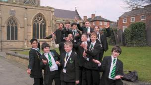 Now experts in acting, School Reporters head off to BBC Radio Leicester