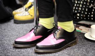 Northampton University student shoes of her pair of Dr Martens