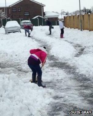 Wrexham in the snow