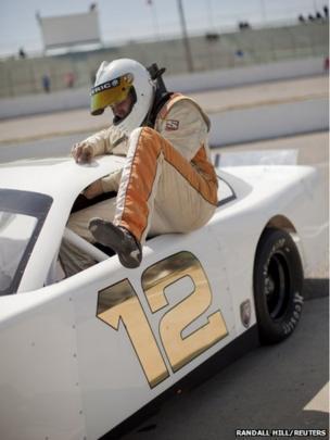 Driver Garrett Campbell of Asheboro