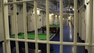 Prison wing at HMP Shrewsbury