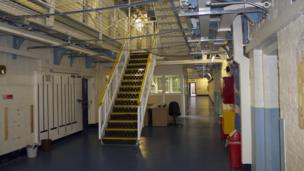 Prison wing inside HMP Shrewsbury