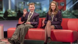 School Reporters film live News reports