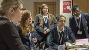 School Reporters give their input behind the cameras