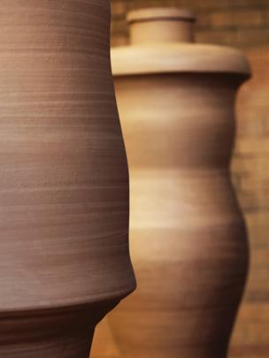 Figural Jar I & II by Julian Stair