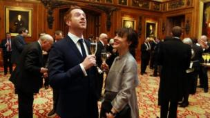 Damian Lewis, star of TV show Homeland, with his wife Helen McCrory