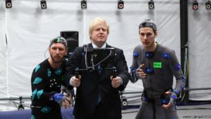 Mayor of London Boris Johnson poses for a photograph during a visit to Ealing Studios