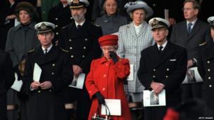 The decommissioning of Britannia in 1997