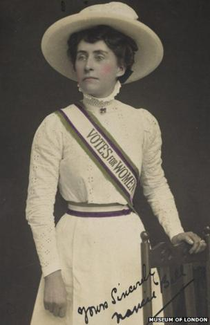 The 'Suffragette Look' as worn by Norah Balls