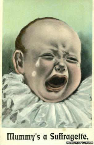 This satirical anti-suffrage postcard