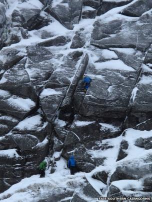 Climbers on Lochnagar