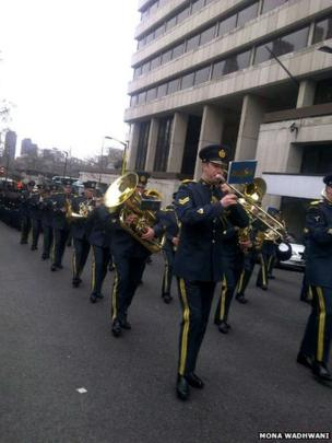 Several bands played along the route. Photo: Mona Wadhwani