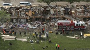 Search and rescue workers in West, Texas.