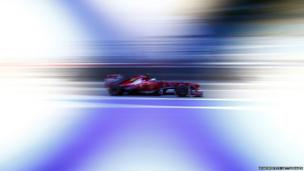 Felipe Massa of Brazil and Ferrari drives his car