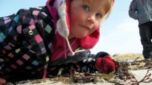 Eilidh at the beach