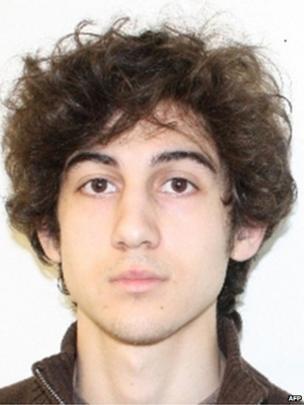 Bombing suspect Dzhokar Tsarnaev, 19 April 2013