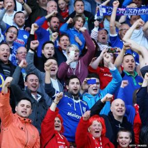 Fans started their celebrations at the final whistle