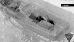 An image provided by the Massachusetts State Police shows Dzhokhar Tsarnaev hiding inside a boat