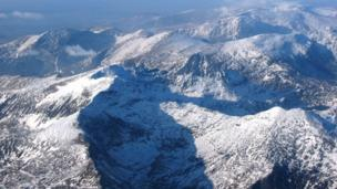 Snowdonia from the air