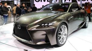 Lexus LF-CC car at the Shanghai auto show