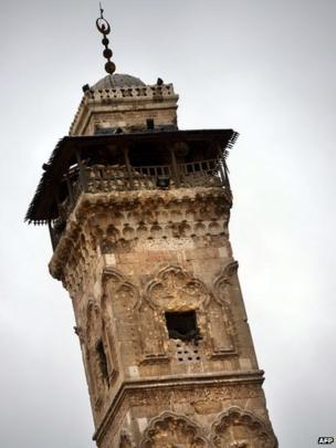 File photo from 16 April 2013 showing the minaret