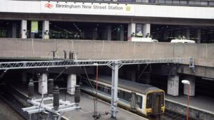 New Street station pictured in 1998