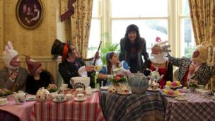 Mad Hatter's tea party for Llandudno's Alice Day May 2012