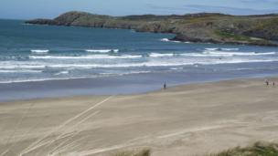 Whitesands Bay in Pembrokeshire