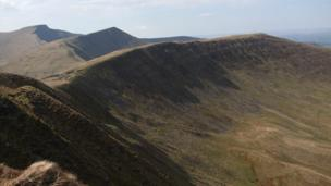 Bwlch ar y Fan in the Brecon Beacons