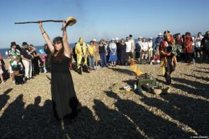 Lamas ritual, Eastbourne, Sussex