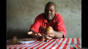 Traditional healer in southern Tanzania who treats HIV patients
