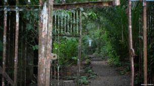 Prison gates on Gorgona island