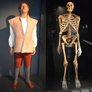 The skeleton and reconstruction of an archer found onboard the Mary Rose