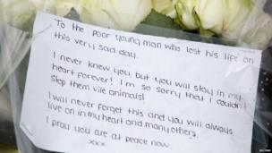 Flowers left in memory of soldier killed in Woolwich, 23 May