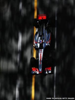 Jenson Button drives his McLaren in Monte-Carlo