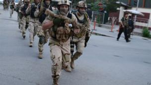 Afghan and international special forces, Kabul, 24 May 2013