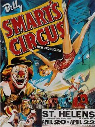 Poster advertising the circus in the 1960s