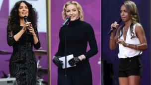 actress-producer Salma Hayek Pinault, Madonna and Jada Pinkett Smith