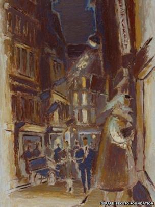 Paris Street Scene c. 1960, oil on canvas, Private Collection
