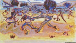 The Sharpeville Massacre 1960, watercolour on paper, Iziko South African Gallery